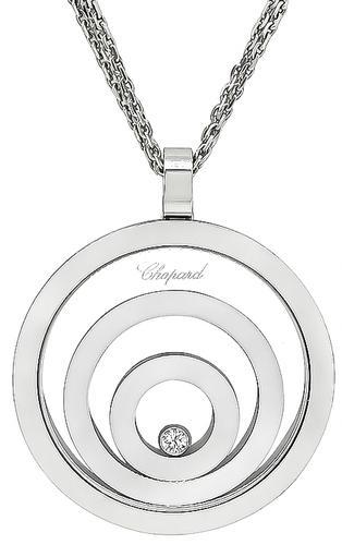 Buy estate chopard diamond happy spirit pendant necklace new york 18k white gold diamond chopard happy spirit necklace mozeypictures Gallery