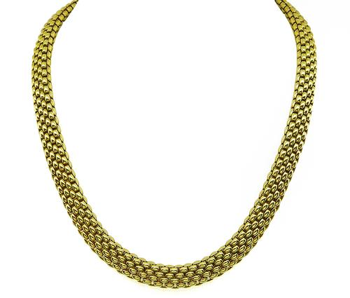 18k Yellow Gold Mesh Necklace
