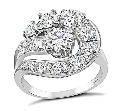 1.94cttw Old European Cut Diamond 14k White Gold Cocktail Ring