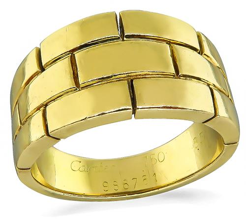 18k Yellow Gold Cartier Ring