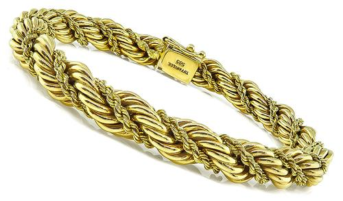14k Yellow Gold Twisted Rope Bracelet by Tiffany & Co.