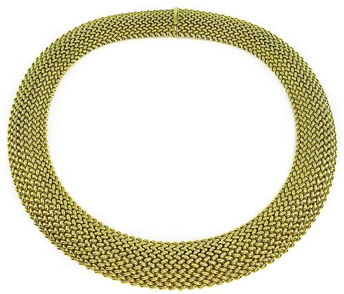 14k Yellow Gold Weave Necklace