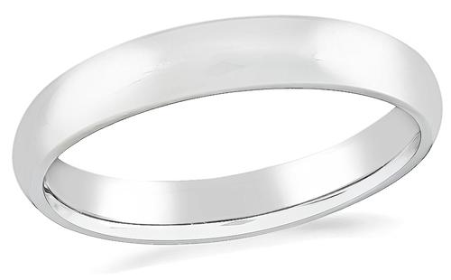 4mm Platinum Wedding Band
