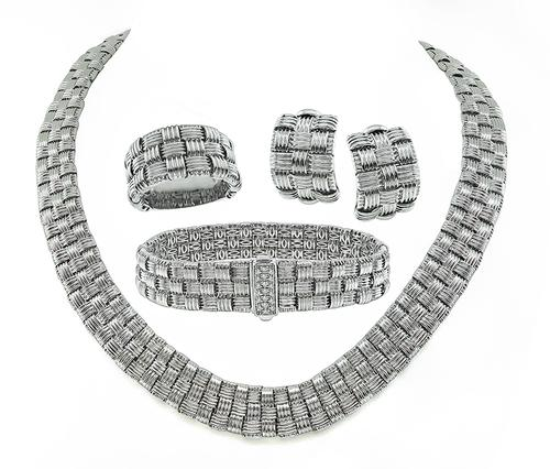 18k White Gold Jewelry Set by Roberto Coin