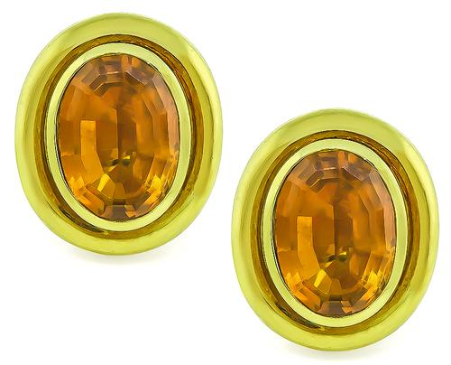 78acea01f4bb0 Tiffany 20.00ct Citrine Gold Paloma Picasso Earrings | Israel Rose
