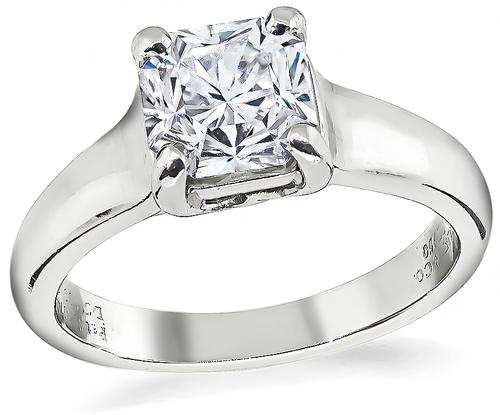 Lucida Cut Diamond Platinum Tiffany & Co Engagement Ring
