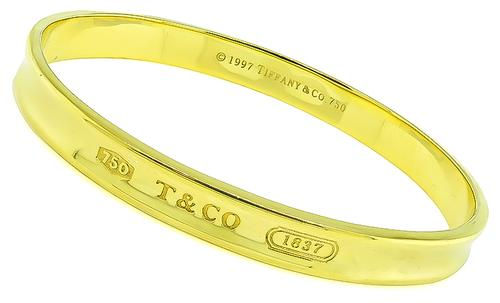18k Yellow Gold Bangle by Tiffany & Co