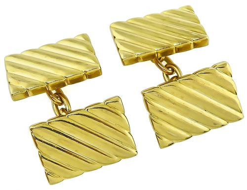14k Yellow Gold Cufflinks by Tiffany