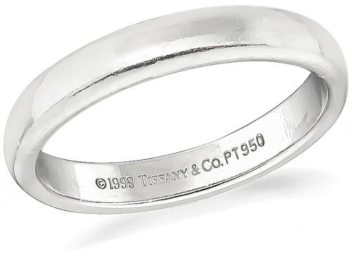 Platinum Wedding Band by Tiffany & Co