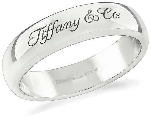 6mm Tiffany & Co Platinum Wedding Band