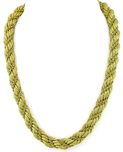 18k Yellow Gold Twisted Rope Necklace by Tiffany & Co