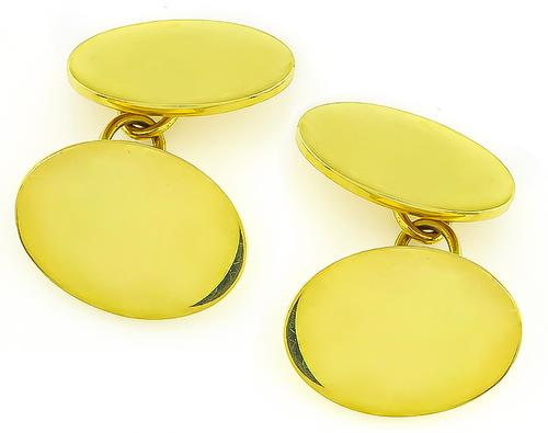 18k Yellow Gold Cufflinks by Tiffany & Co