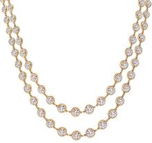 17.68ct Diamond Rose Gold By The Yard Necklace - price $16,700