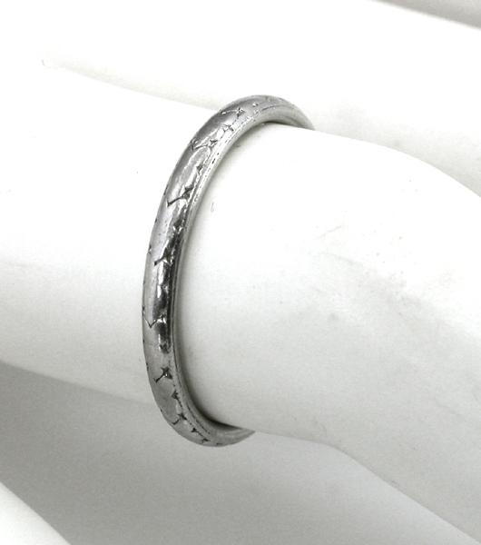 edwardian platinum wedding band new york estate jewelry