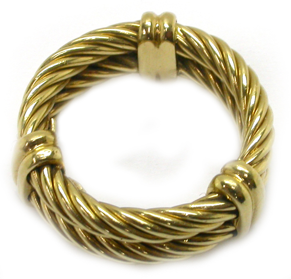 Philippe Charriol 18k Yellow Gold Ring