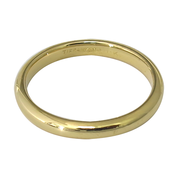 lovely tiffany co 18k yellow wedding band the band is stamped tiffany ...