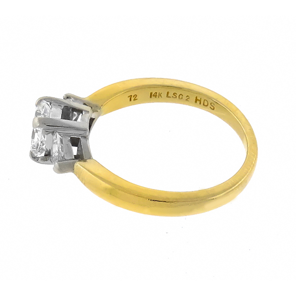 14k yellow and white gold  diamond engagement ring 1