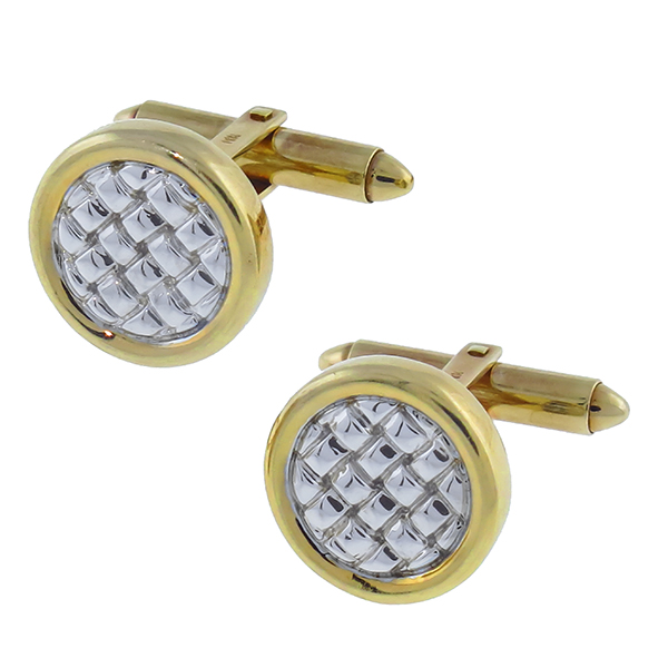 14k yellow and white gold cufflinks 1