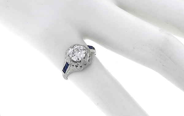 antique 0.96ct diamond engagement ring photo 1