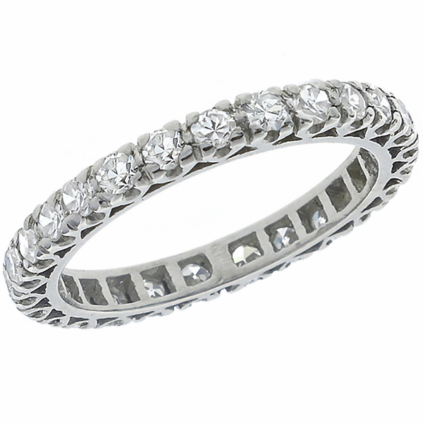 antique diamond eternity platinum wedding band 1