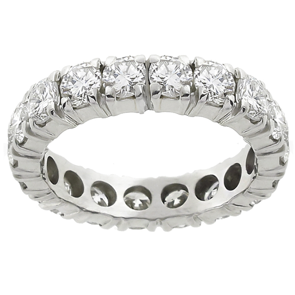 diamond eternity platinum wedding band  1
