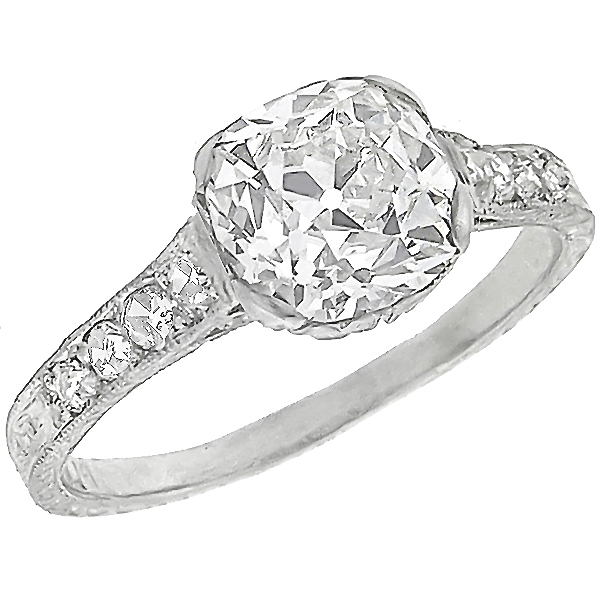 diamond platinum engagement ring 1