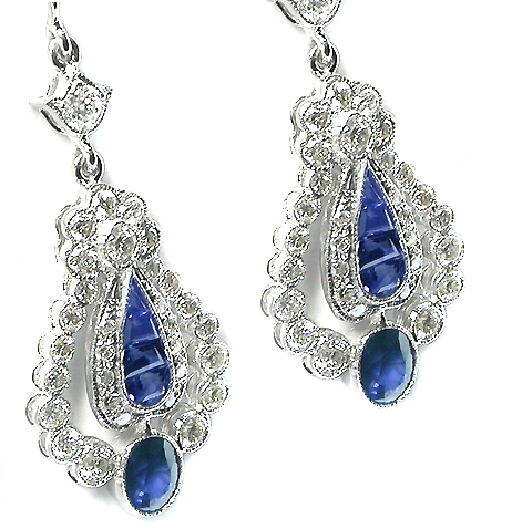 4k white gold sapphire and diamond earrings 1