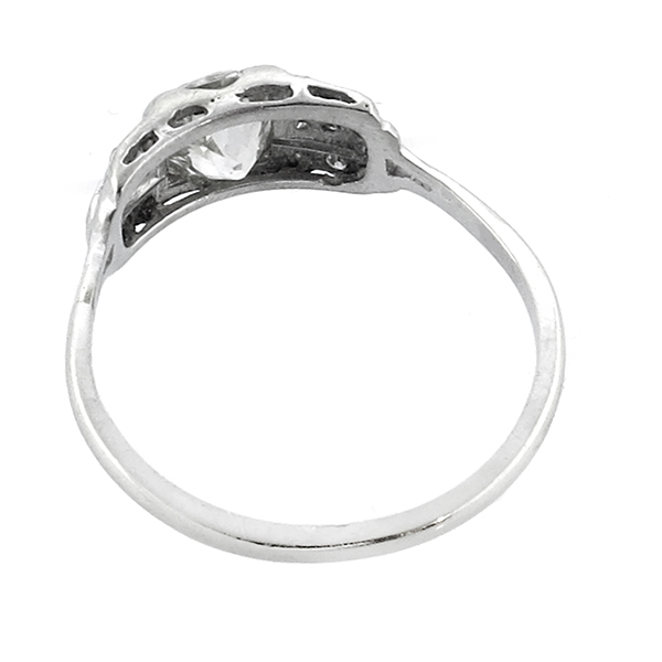 diamond 14k white gold engagement ring 1