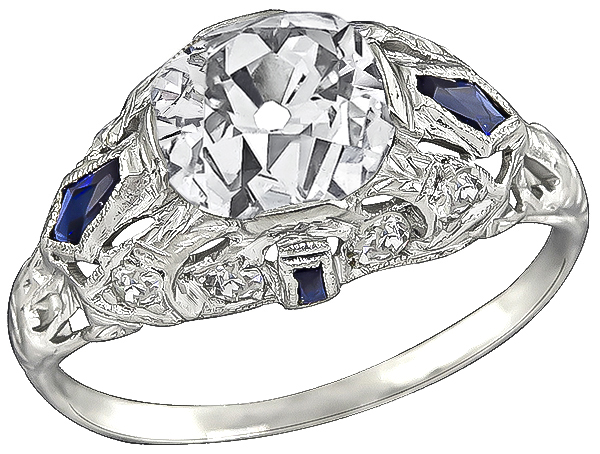 Art Deco 2.36ct Diamond Engagement Ring