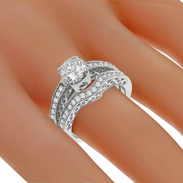 Estate Diamond Gold Engagement Ring & Wedding Band Set