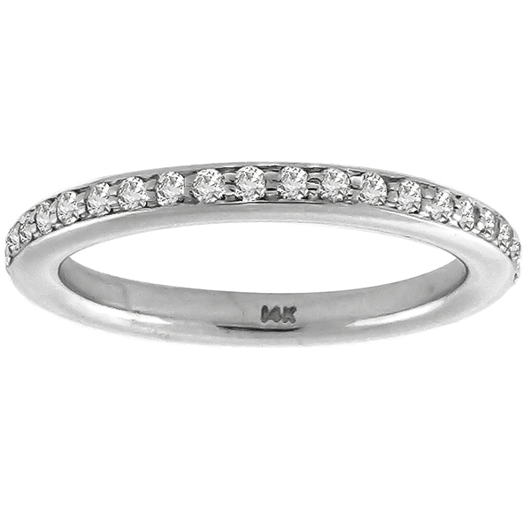 14k white gold diamond eternity wedding band 1