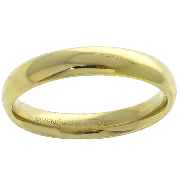 Estate 14k Yellow Gold Dome Wedding Band