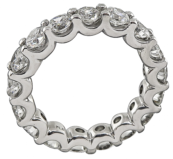 Estate 4.36ct Diamond Eternity Wedding Band