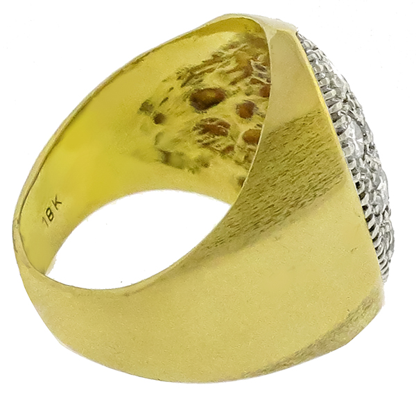 1.98ct Diamond 2 Tone Gold Ring