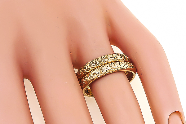 Antique Gold Wedding Band