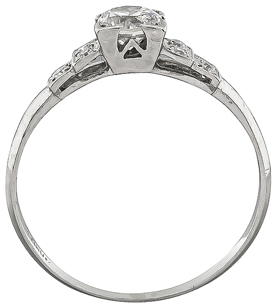 Vintage 0.45ct Diamond Engagement Ring