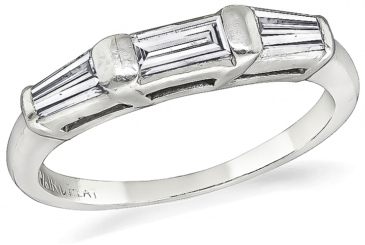 Estate 0.25ct Diamond Wedding Band