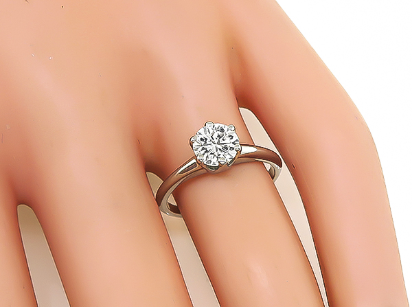 Estate 0.98ct Diamond Solitaire Engagement Ring
