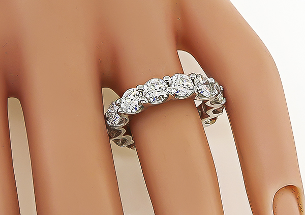 Estate 5.65ct Diamond Eternity Wedding Band