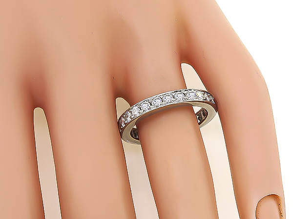 Estate 1.40ct Diamond Eternity Wedding Band