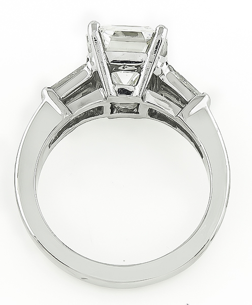 Emerald Cut Diamond 14k White Gold Engagement Ring