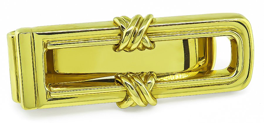 Estate Tiffany & Co Gold Money Clip