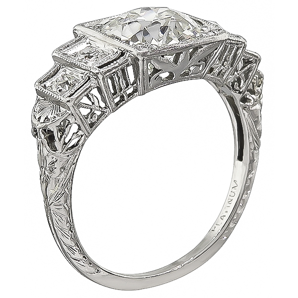 Art Deco 1.99ct Diamond Engagement Ring