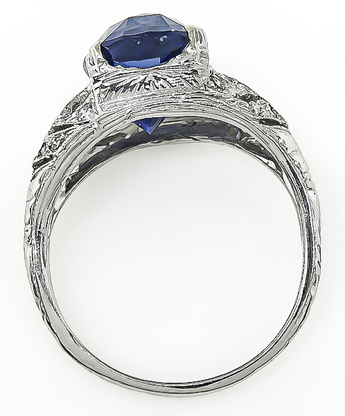 Vintage 5.04ct Sapphire Engagement Ring