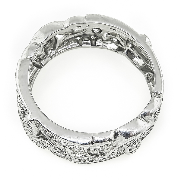 Art Deco 1.00ct Diamond Wedding Band