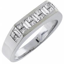 diamond 18k white gold band 1