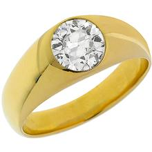 18k Yellow gold diamond ring 1