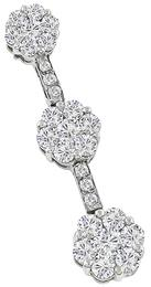 1.50ct Diamond 14k White Gold Pendant