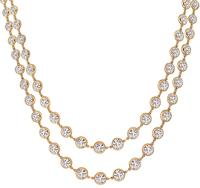17.68ct Diamond Rose Gold By The Yard Necklace