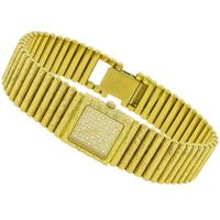 Diamond 18k Yellow Gold Women's Quartz Watch